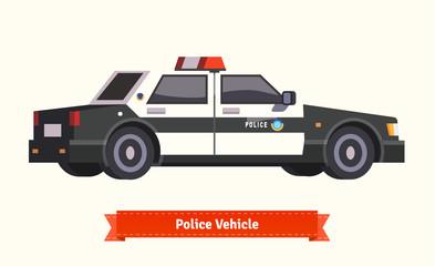 Police vehicle. Flat style illustration