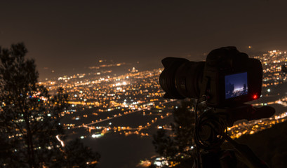 Photographing Murcia at night