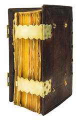 Medieval bible with leather cover