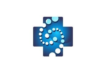 medicine health care icon, medical healthcare logo, point plus nature symbol icon vector design
