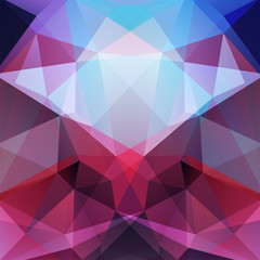 Abstract background consisting of triangles. Blue, pink, purple colors. Geometric design for business presentations or web template banner flyer. Vector illustration