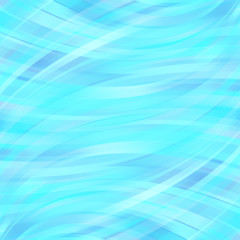 Vector illustration of blue abstract background with blurred light curved lines. Vector geometric illustration.