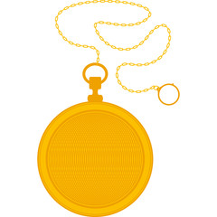 Golden Pocket Watch and Chain