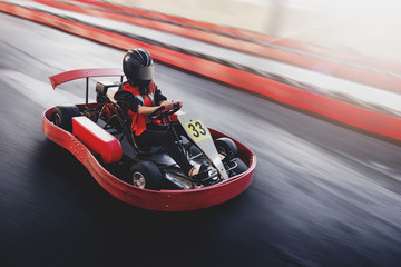 Go kart speed rive indor race oposition race Wall mural