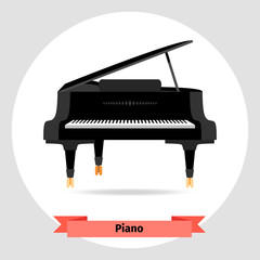 Musical instrument grand piano