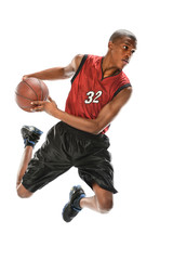 African American Basketball Player