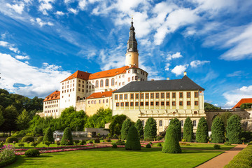Weesenstein Castle near Dresden, beautiful view, Saxony, Germany