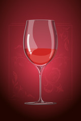 vector hand drawn illustration in cartoon style. wine glass. menu template. Decorative organic ornament on background.