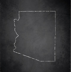 Arizona map blackboard chalkboard vector