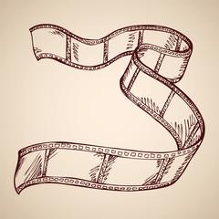 Film. Vector drawing
