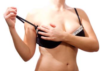 schöner Frauen Oberkörper in Unterwäsche