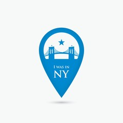 New York location pin