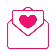valentine day card pink stroke