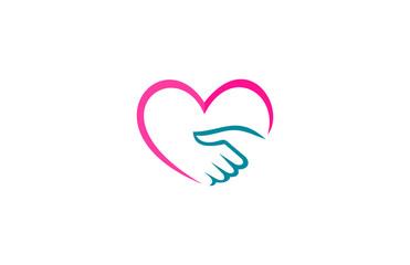 love handshake logo