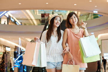 Girls in mall