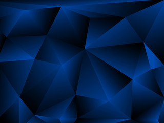 Blue Abstract Polygonal Background. Vector illustration