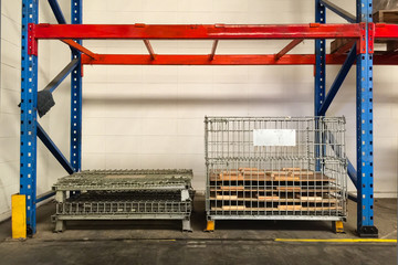 Storage stand in warehouse