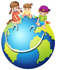 Children and happy world