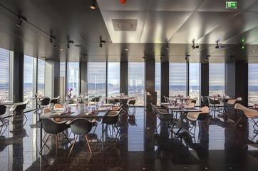 interior of Vienna contemporary restaurant in sky
