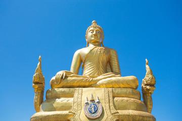 thailand phuket big white and golden buddha