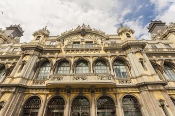 architecture, art, barcelona, blue, building, buildings, catalonia, city, cityscape, clouds, design, destination, espana, europe,