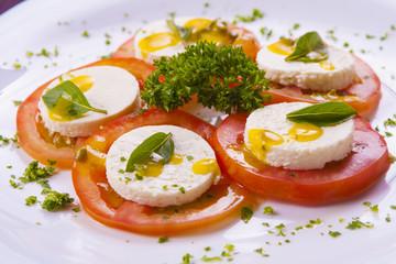Bufalo mozzarella and tomatoes