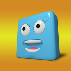 emotional cube/3d character cube experiencing emotions