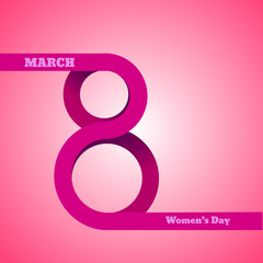 8 March, International Women's Day vector eps 10