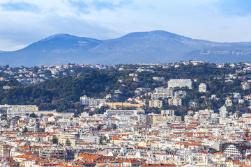 NICE, FRANCE, on JANUARY 7, 2016. A view of the city from a high point.