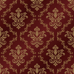 Seamless damask pattern. Vintage classic background