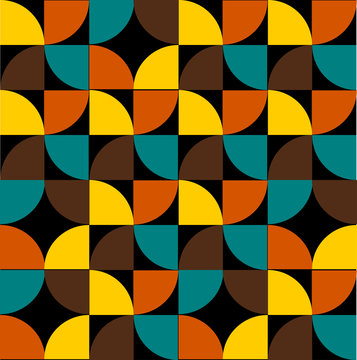 Fashion pattern from the 70s vector