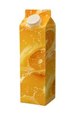 juice carton box isolated on white