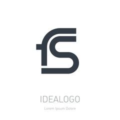 FS initial logo. FS initial monogram logotype. Vector design ele