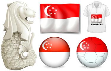 Singapore flag and symbol
