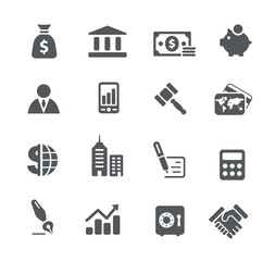Business and Finance Icons -- Utility Series