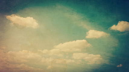 Grunge clouds and texture for Vintage style.