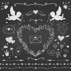 Valentine's day decorative vector set