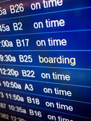 Airport Flight Status Board