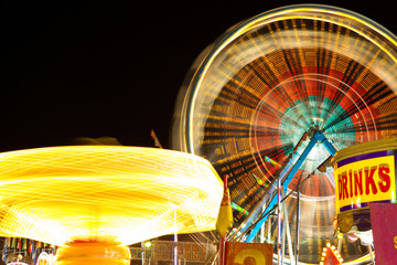 Carnival Rides at Night Picture