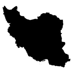 Iran map on white background vector
