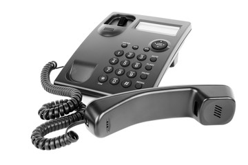 Business Phone Isolated on White Background