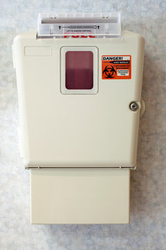 Hospital Sharps Container for Syringe Disposal