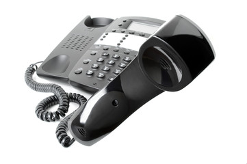 Business Phone Receiver in Mid-Air
