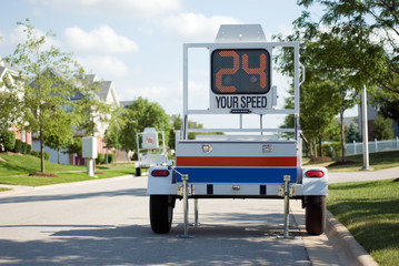 Police Mobile Radar Speed Trailer