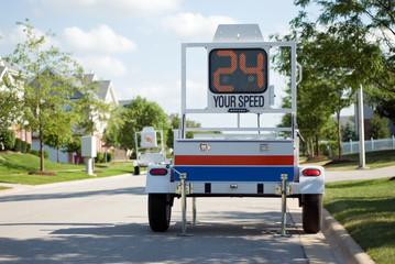 Police Mobile Radar Speed Trailer