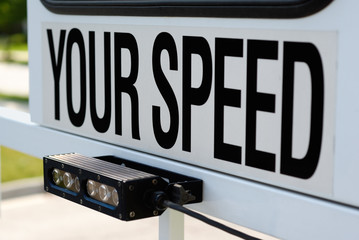 Police Mobile Radar Speed Sign