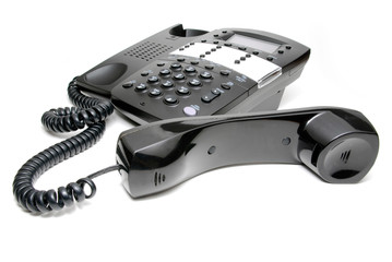 Business Phone with Receiver off the Hook