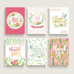 lovely thank you card set