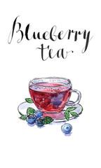 Blueberry antioxidant organic tea