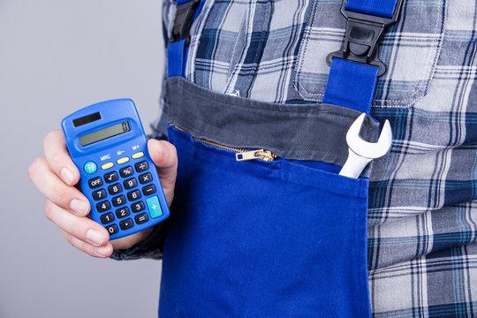 Hausmeister Taschenrechner Kalkulation